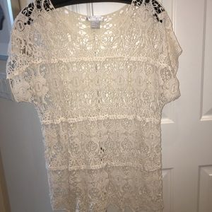 Crochet tunic or coverup